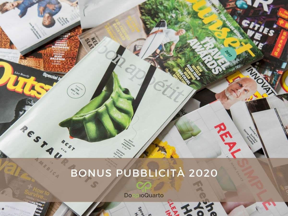 Bonus pubblicità 2020: le novità del Decreto Cura Italia